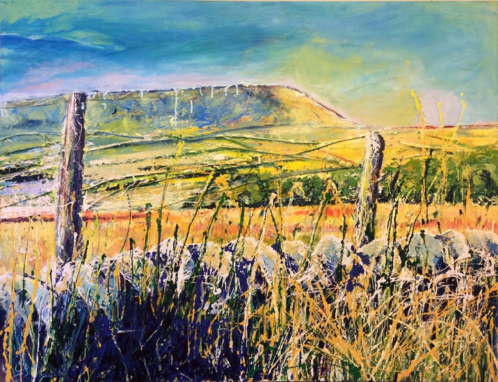 Pendle Hill, Poetry of Sunshine — oil on canvas, 116cm/80cm — only £550!!!