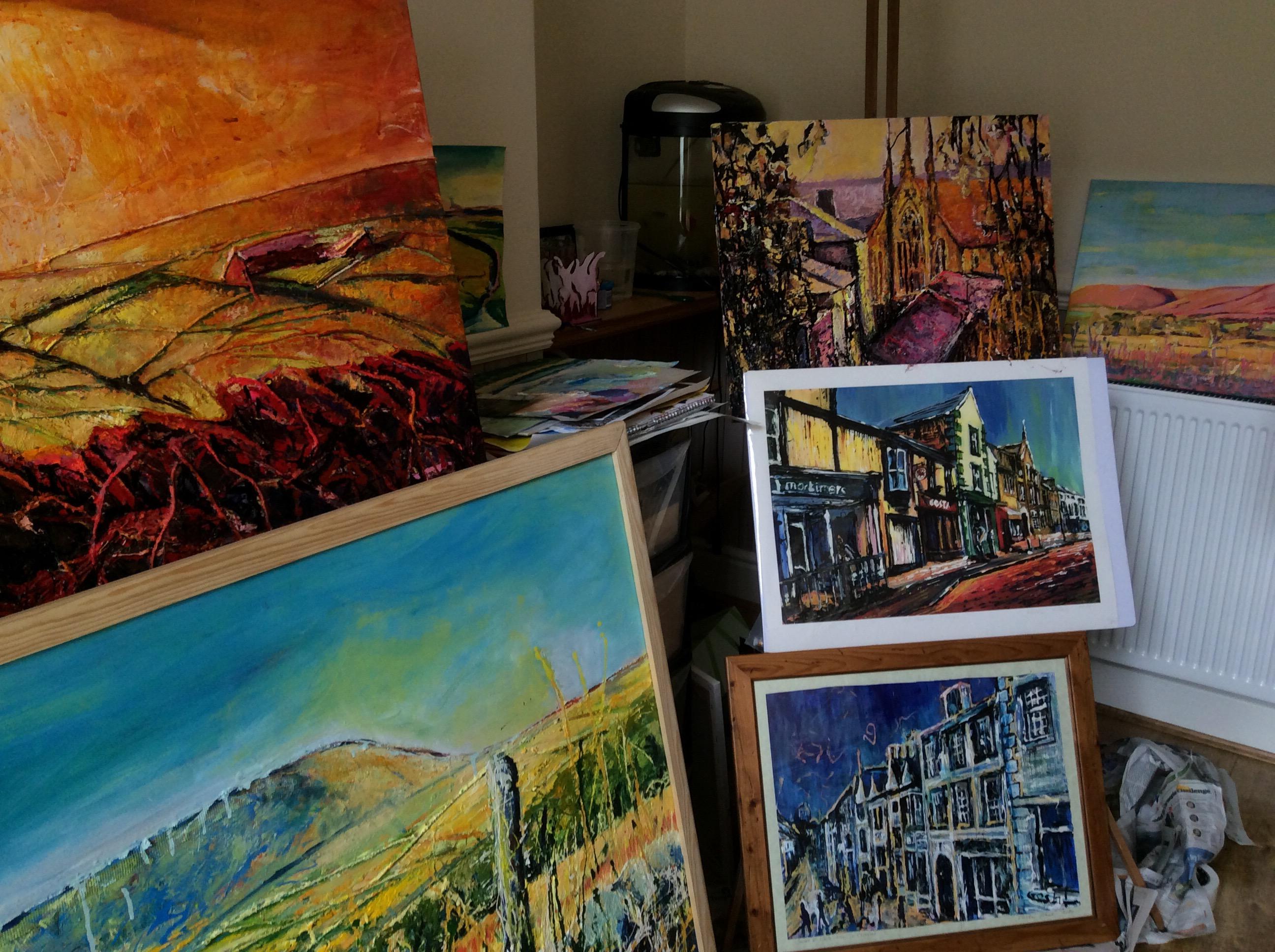 Gosha  Gibek in her studio